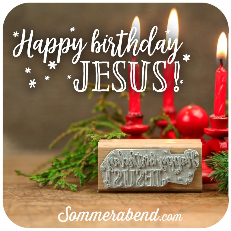 Midi Stempel Happy Birthday Jesus