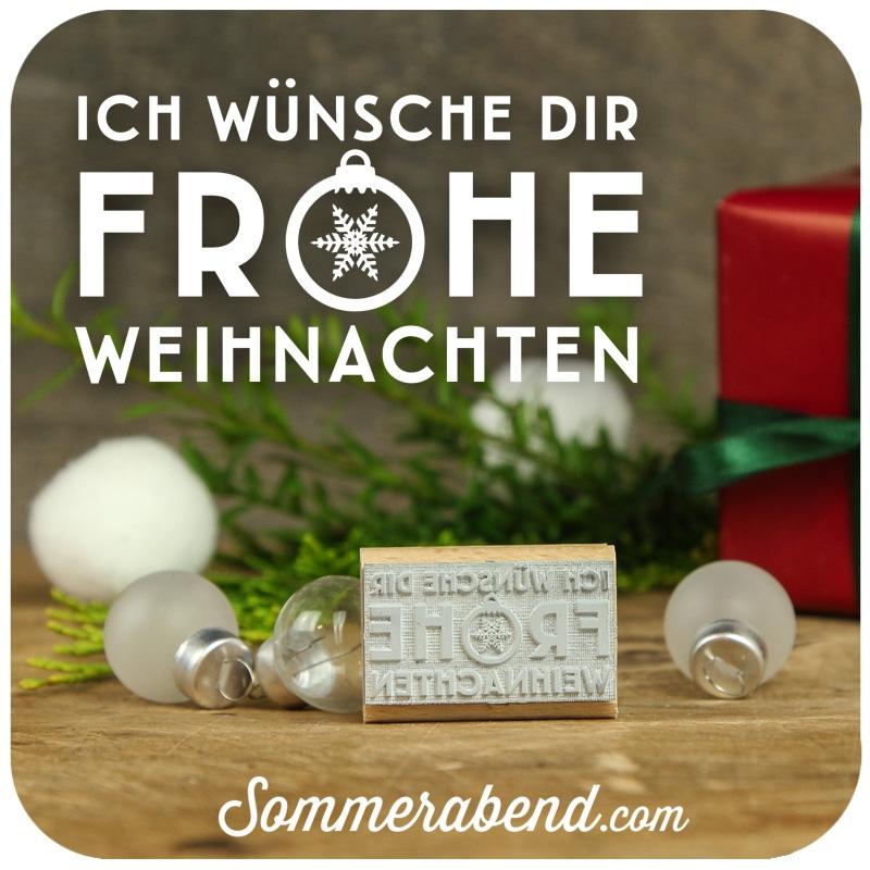 Midi-Stempel Ich wuensche dir frohe Weihnachten, 6,00 €