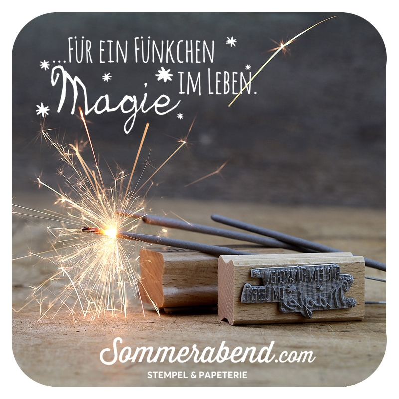 magie sprüche Midi Stempel Fuer ein Fuenkchen Magie im Leben, 6,00 € magie sprüche