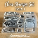 Clearstamps-Set Essen 1