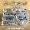 Clearstamps-Set Sprüche 1