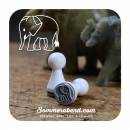 Mini-Stempel Elefant hell