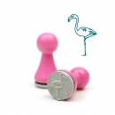 Mini-Stempel Flamingo