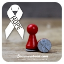 Mini-Stempel Hope-Schleife