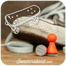 Mini-Stempel Skateboard