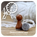 Mini-Stempel Spinnrad