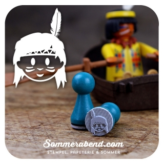 Mini-Stempel Indianer