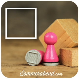 Mini-Stempel Quadrat leer