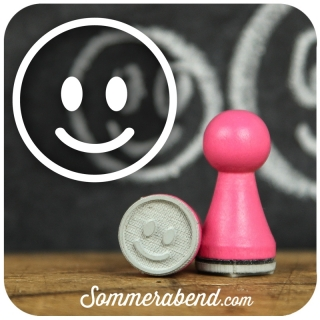 Mini-Stempel Smiley lachend (neu)