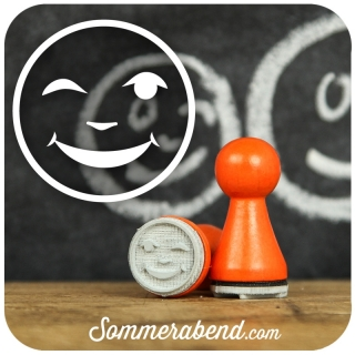 Mini-Stempel Smiley zwinkernd